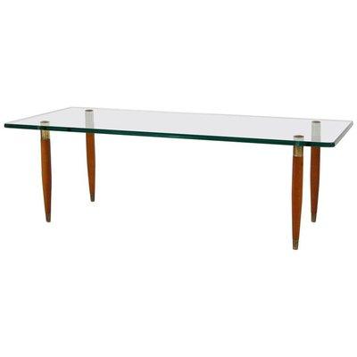Mid Century Italian Modern Glass Coffee Table From Fontana Arte 1950s 1