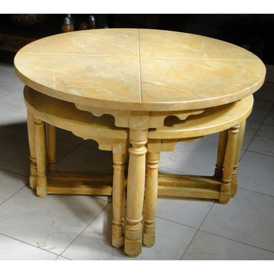 Coffee Table With Stools.Antique Coffee Table 4 Stools