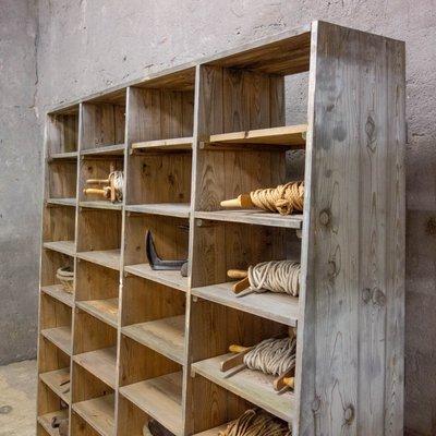 Mensole Per Libreria Legno.Libreria Grande In Legno A 32 Mensole Anni 30