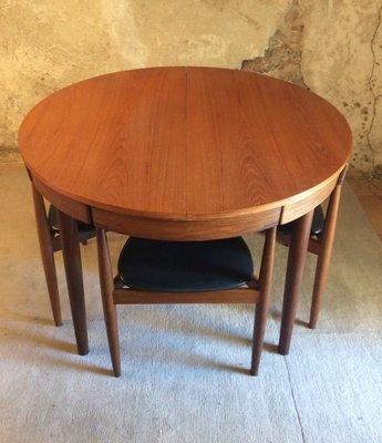 Tavolo da pranzo allungabile con sedie di Hans Olsen per Frem Rojle, anni  \'50, set di 5