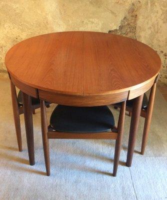 Tavolo da pranzo allungabile con sedie di Hans Olsen per Frem Rojle ...