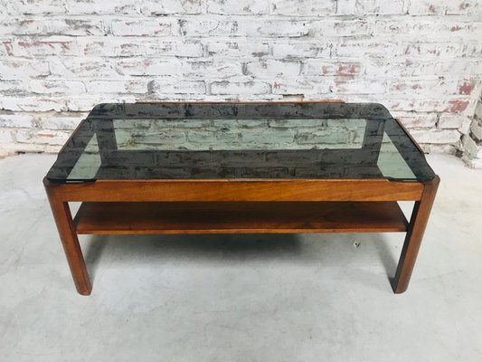 Vintage Teak Smoked Glass Coffee Table From G Plan For Sale At