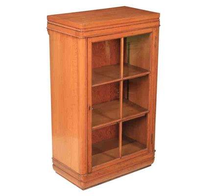 Small Art Deco Oak Cabinet 1