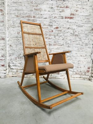 Pleasing Mid Century Teak Rocking Chair 1960S Gmtry Best Dining Table And Chair Ideas Images Gmtryco