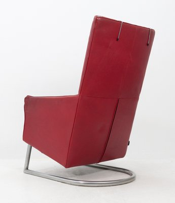 Montis Madonna Fauteuils.Red Leather Madonna Lounge Chair By Gerard Van Der Berg For Montis 1984