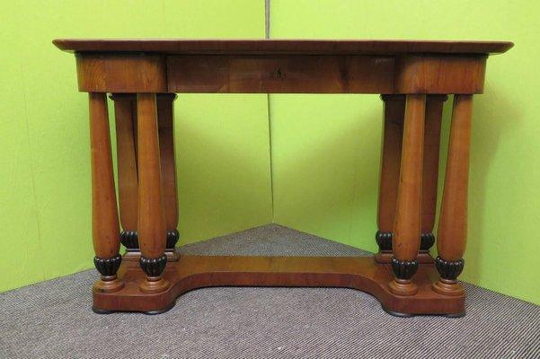 Antique Biedermeier Austrian Cherrywood Console Table 1820s 1