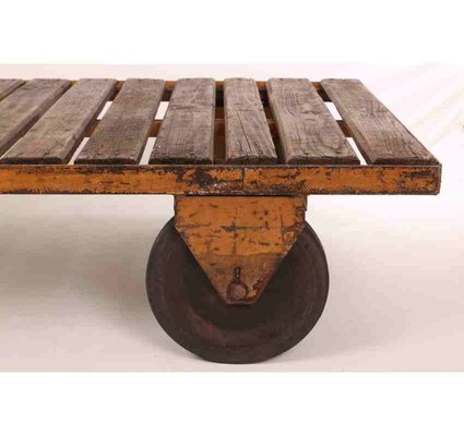 Trolley Coffee Table.Industrial Trolley Coffee Table 1920s