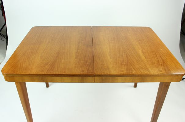 Czech Fold Out Dining Table In Beech By Jitona 1960s 4