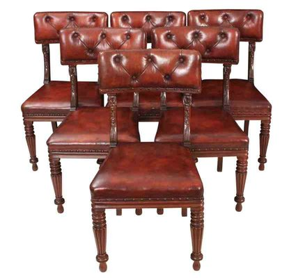 William Iv Mahogany And Leather Dining