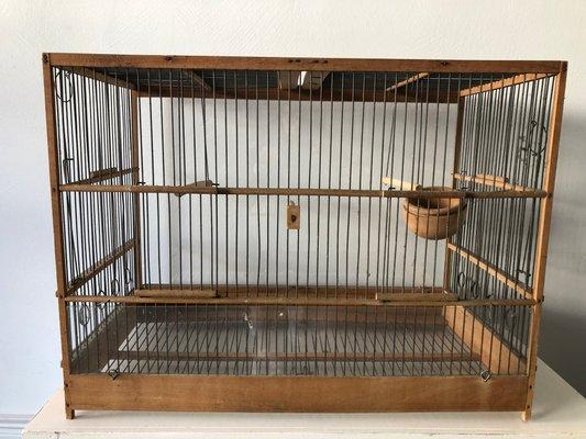Gabbia per uccelli vintage in vendita su pamono