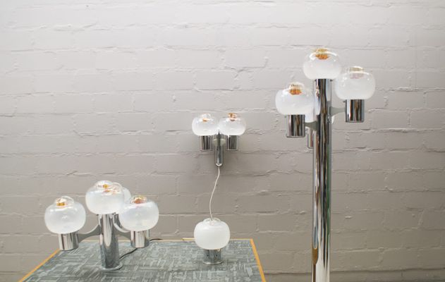 Vintage E Age Lamps From Mazzega 1960s Set Of 4 1