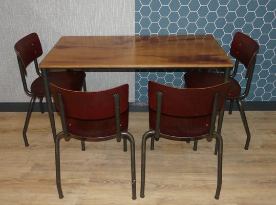 ef4bd41290 Industrial Style Dining Set, 1960s, Set of 5 for sale at Pamono
