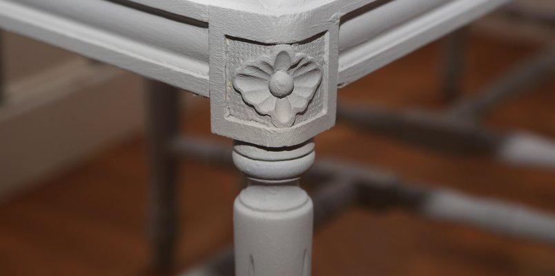Chaises Gris De Salon Style Gustavien 6 En ClairSuèdeSet Vintage 4ARjq35L