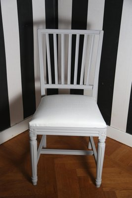 Antique Swedish Gustavian Dining Chairs, Set Of 4 2