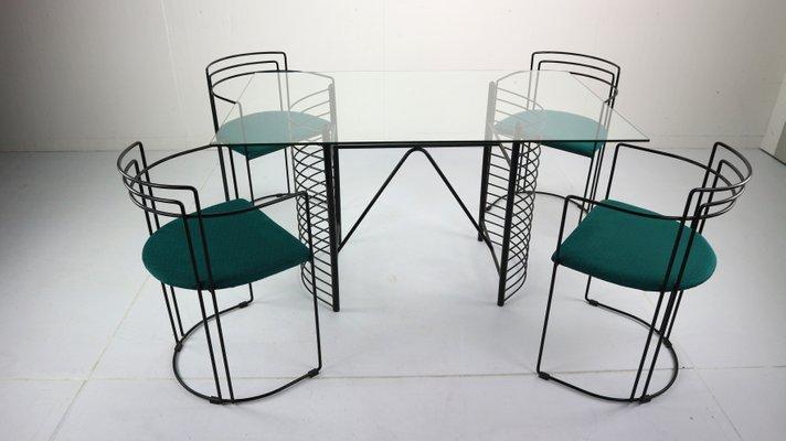 Mid  Century Modern Minimalist Dining Room Set, 1970s 1