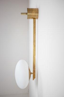 Lampada da parete Stella Angel in ottone e vetro opalino di Design ...