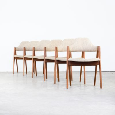Vintage Compass Chairs By Kai Kristiansen For Sva Mobler Set Of 6