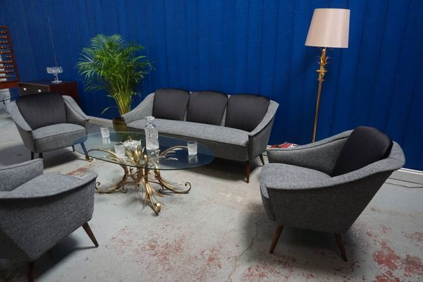 Mid-Century French Living Room Set, 1950s