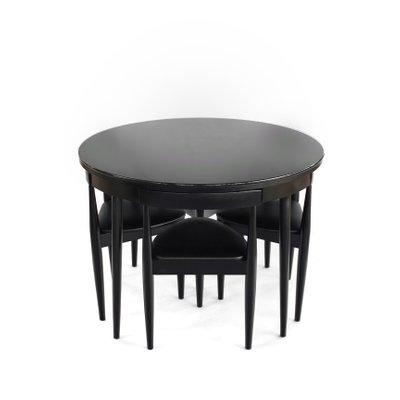 Super Mid Century Round Nesting Dining Set With Tripod Chairs Frankydiablos Diy Chair Ideas Frankydiabloscom
