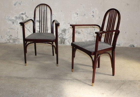Antique Wooden Chairs >> Antique Wooden Chairs By Josef Hoffmann For Jacob Josef Kohn 1910s Set Of 2