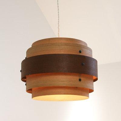 Wood Veneer Ceiling Lamp 1940s