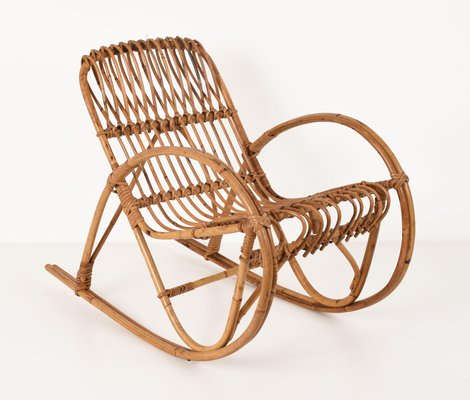 Super Italian Childrens Rattan Rocking Chair By Franco Albini 1950S Gmtry Best Dining Table And Chair Ideas Images Gmtryco