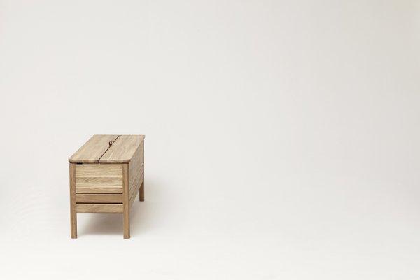 Admirable A Line Storage Bench Oak From Formrefine Short Links Chair Design For Home Short Linksinfo