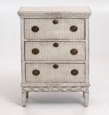 Antique Carved Gustavian Style Chest Of