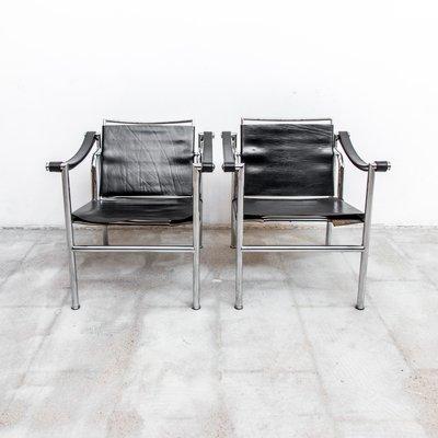 Sedie LC-1 di Le Corbusier, anni \'50, set di 2