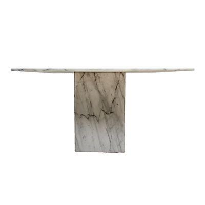 Italian Carrara Marble Dining Table 1980s 1