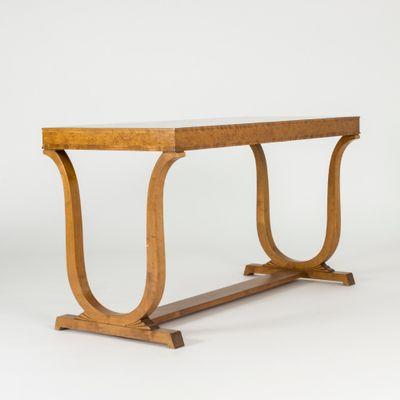 Birch Library Table By Carl Malmsten For Nordiska Kompaniet 1920s