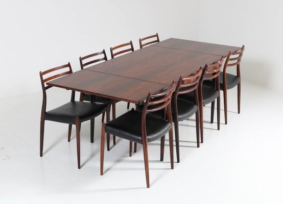 Mid Century Rosewood Dining Room Set By Niels O Møller For J L Møllers 1954
