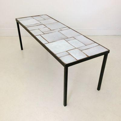 Table Céramique BlancheFrance1950s En BlancheFrance1950s Basse Basse Table En Table Céramique doxBWerC