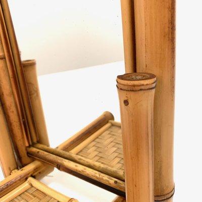 BambúRatán Plegable De Espejo 20 Y Mesa MaderaAños Modernista P8n0wkO