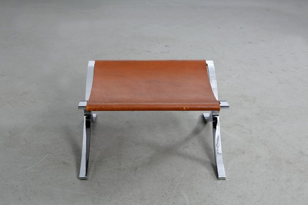 Vintage Barcelona Stool Or Ottoman By Mies Van Der Rohe For Knoll Inc. 4
