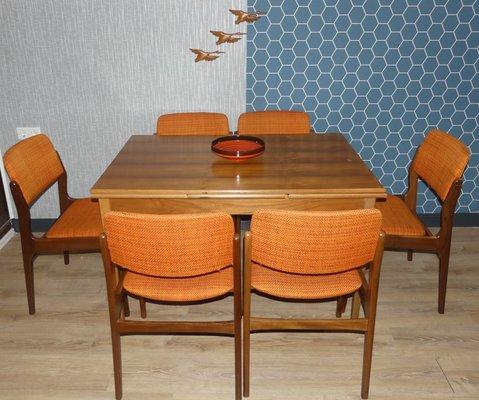 Astonishing Extendable Walnut Dining Table 1960S Creativecarmelina Interior Chair Design Creativecarmelinacom