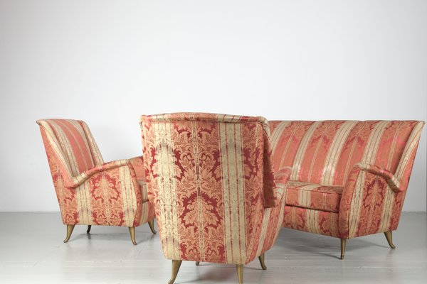 Italian Living Room Set from I.S.A., 1950s