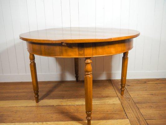 Mesa de comedor de chapa de cerezo y roble, década de 1880 en venta ...