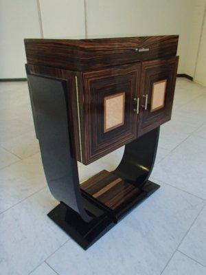 Meuble De Bar Art Deco En Macassar Et En Erable