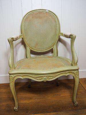 Sedie Luigi XV intrecciate, anni \'20, set di 4 in vendita su Pamono