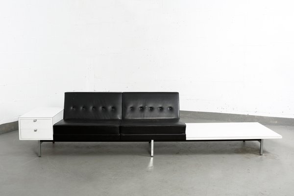 Vintage Leather Modular Sofa By George Nelson For Herman Miller For