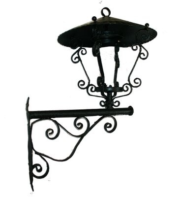 Antique Spanish Lantern With Wall Bracket For Sale At Pamono