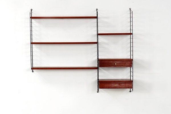 Antiques Other Reproduction Furniture String Shelf Nisse Wall Shelf 1960s 70s Shelf System 3