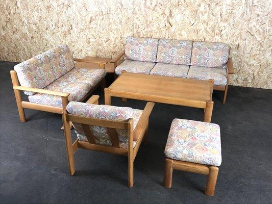 Vintage Sitzgarnitur Aus Eichenholz 1970er Bei Pamono Kaufen