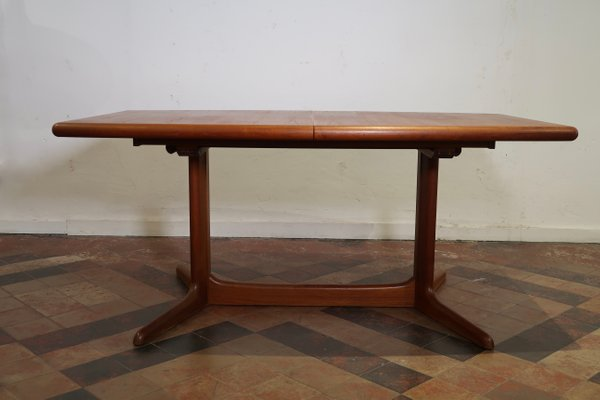 Danish Teak Dining Table With 2 Extensions From Skovby 1960s