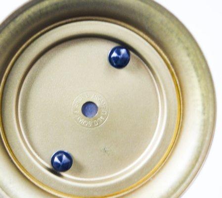 Orologio a pendolo vintage con meccanismo a 8 giorni in ottone e perspex di  Schatz