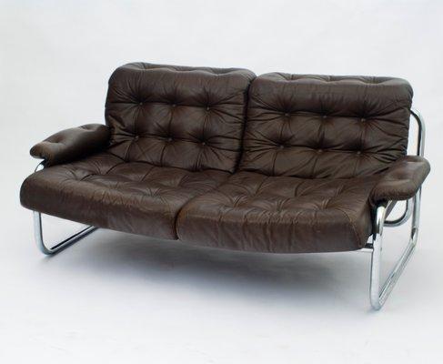 2 Sitzer Sofa Mit Verchromtem Rohrgestell Von Johann Bertil