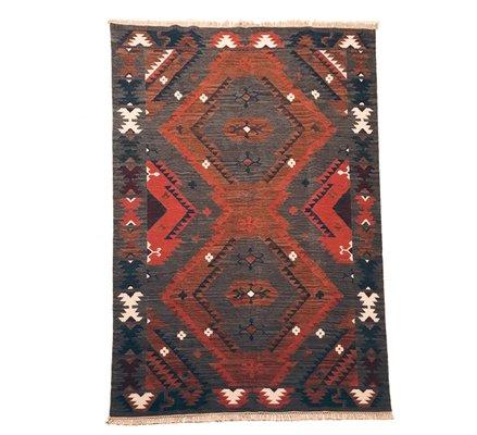 Vintage Indian Kilim Rug 1970s For