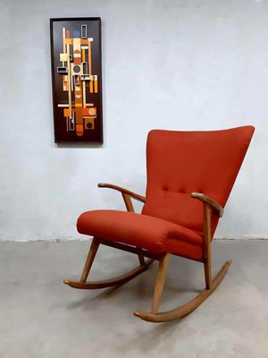 Astonishing Mid Century Swedish Wingback Rocking Chair 1960S Creativecarmelina Interior Chair Design Creativecarmelinacom
