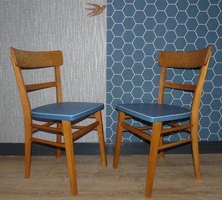 Sedie Cucina Anni 50.Sedie Da Cucina Azzurre Anni 50 Set Di 2